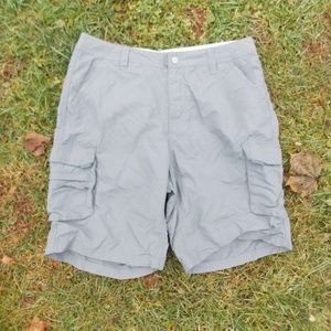 REI Nylon Grey Hiking Cargo Shorts Size 10